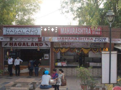 food stalls at dilli haat ina delhi