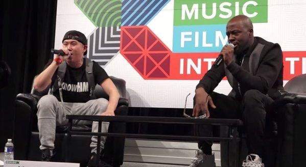 Wyclef Jean raps at SXSW 2015