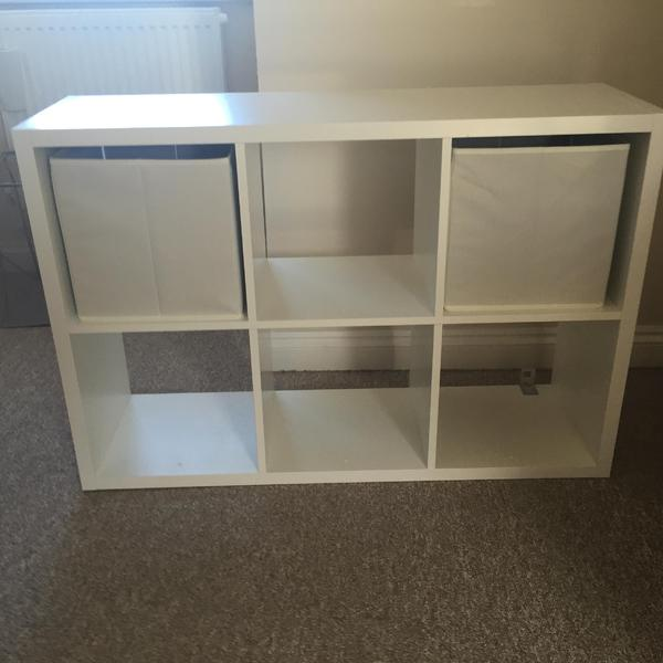 form mixxit white 6 cube shelving unit