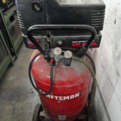 Craftsman Air Compressor Wiring Diagram Single Phase Submersible Motor Starter Lot #43: 30 Gallon / 6hp Gas Electric - Wirebids