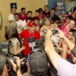 Juan Francisco -Gallo- Estrada fue recibido como heroe