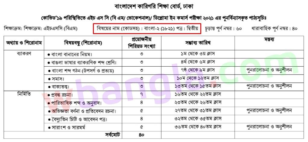 bm bangla 2nd paper