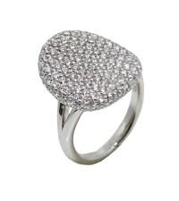 2.10 Carat Pave Diamond White Gold Ring | World's Best