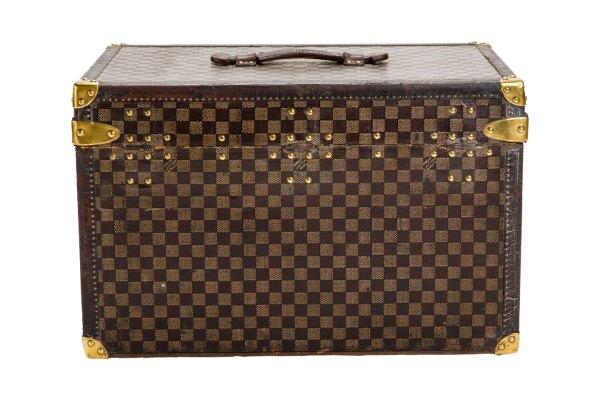 "Vintage Louis Vuitton ""leeds"" Small Steamer Trunk Circa"
