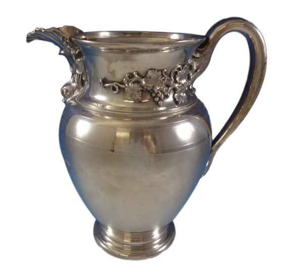 Gorham Coin Silver Water Pitcher With Applied Dolphin
