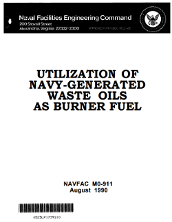 MO-911 Utilization of Navy-Generated Waste Oils as Burner