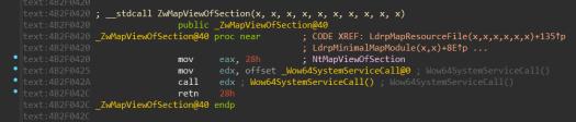 NtMapViewOfSection (x64)