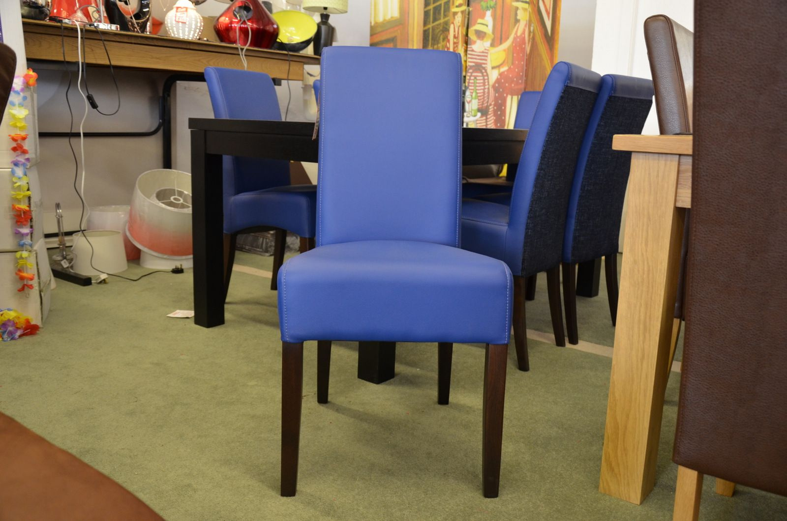Blue Dining Chairs Set Of 6 Electric Blue Dining Chairs