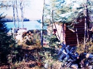1971,Lee working building the sauna