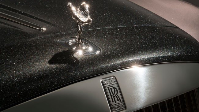 Image result for This Rolls Royce is painted with real diamond dust