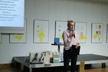 ...oraz Lidia Głębicka – kierownik Działu Udostępniania WBP im. H. Łopacińskiego, uczestniczka mobilności, prezentująca doświadczenia z kursu językowego na Malcie
