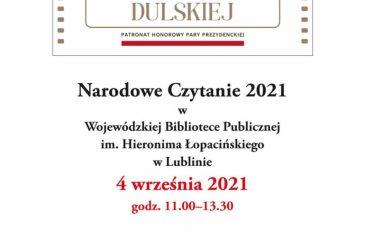 Narodowe Czytanie 2021