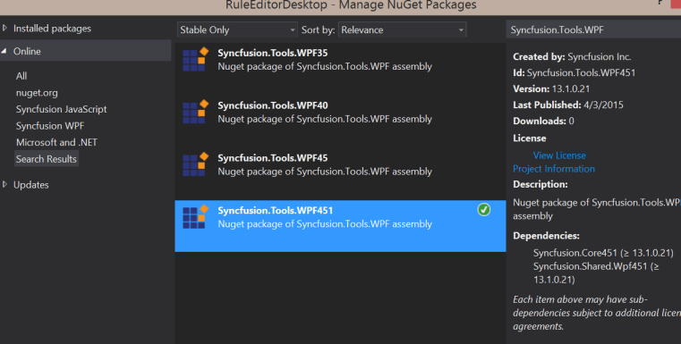 Syncfusion Tools