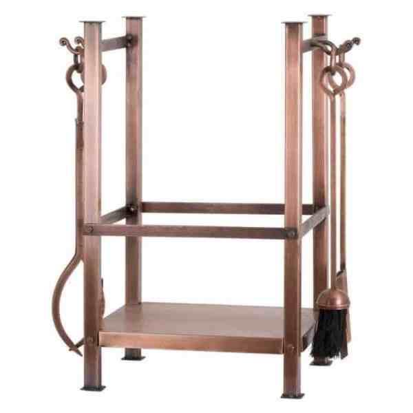 Copper Finish Square Log Holder