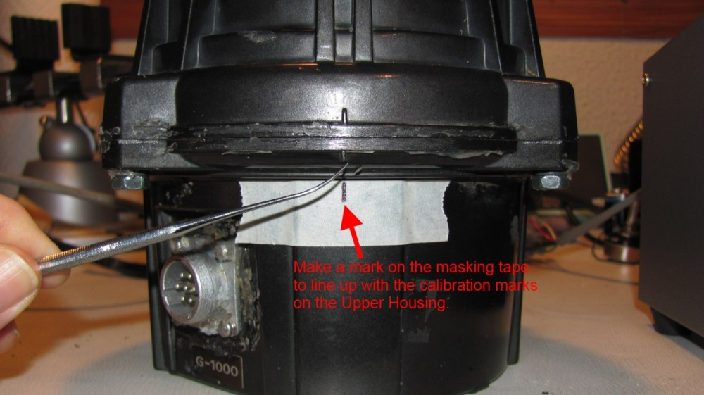 medium resolution of step 2 put a piece of masking tape on the lower housing item 1 in the service manual and mark the position of the rotor with the alignment marks on the