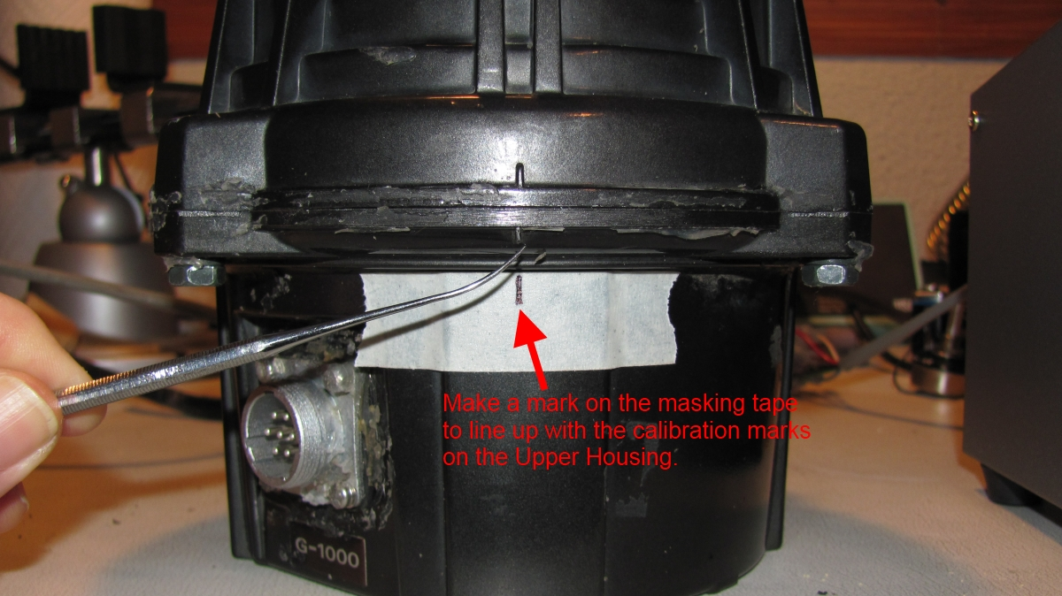 hight resolution of step 2 put a piece of masking tape on the lower housing item 1 in the service manual and mark the position of the rotor with the alignment marks on the