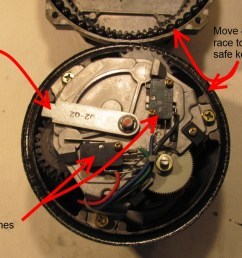 step 5 carefully lift the top of the rotor straight up to disengage the gears then tip it over top down onto the table top  [ 1200 x 674 Pixel ]