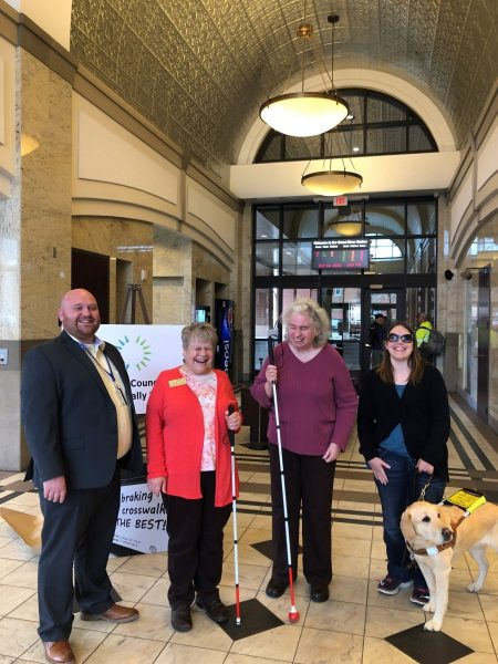 White Cane Day - Photo of Denise Jess, Rhonda Staats and others