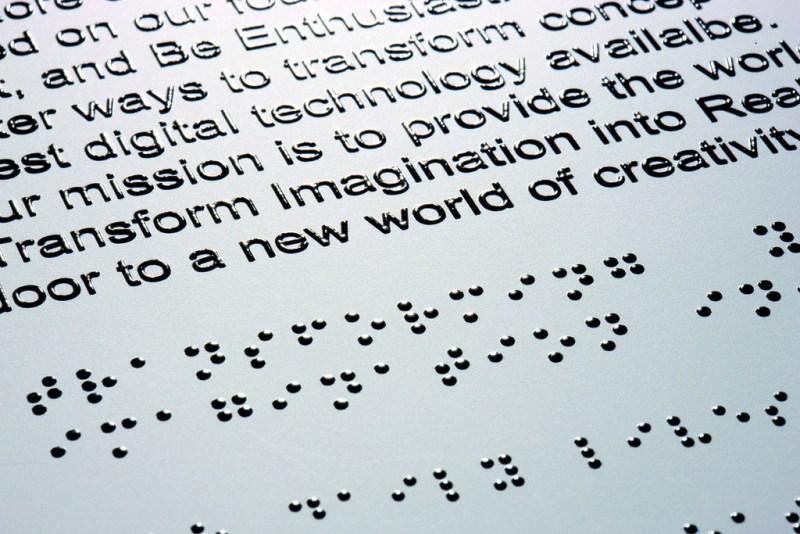 Braille paper.