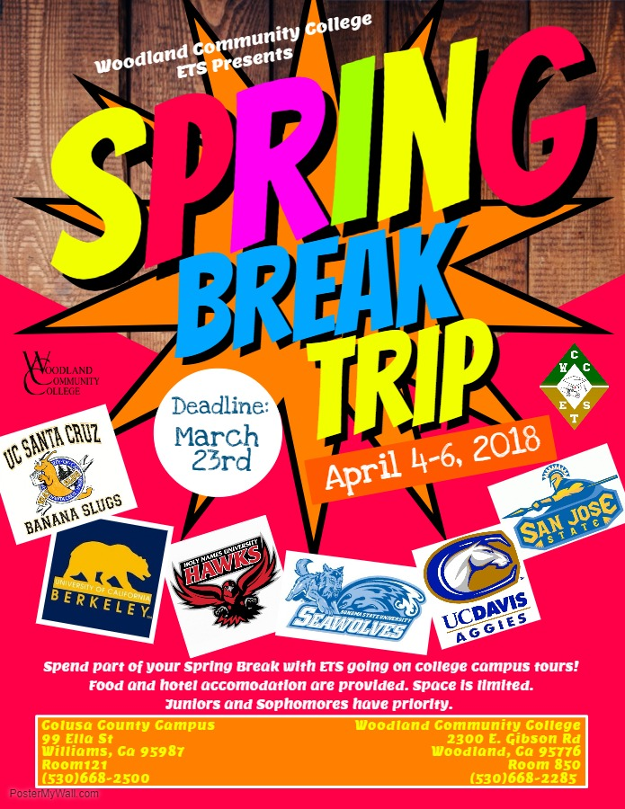 Spring Break Flyer  Welcome to Woodland Community College
