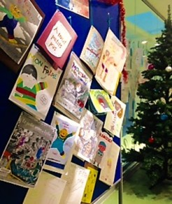 Winter workshop exhibition - artwork by the children of Bibliotheque Place des Fetes, Paris. Church Street Library, December 2015
