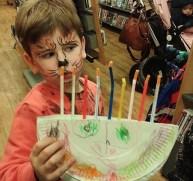 Hanukkah fun at St John's Wood Library, December 2015