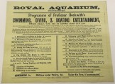 Aquarium Theatre programme for 1884 featuring Professor Beckwith amongst the acts. Image property of Westminster City Archives.