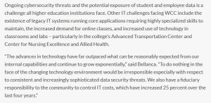 Retract the WCC press release on IT outsourcing