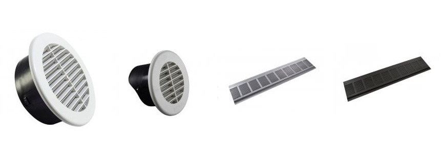 Plastic and Metal Soffit Vents