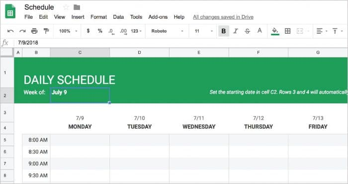 Use these best practices for an effective restaurant employee schedule to avoid understaffing. Google Docs Employee Schedule Template Creating A Basic Schedule