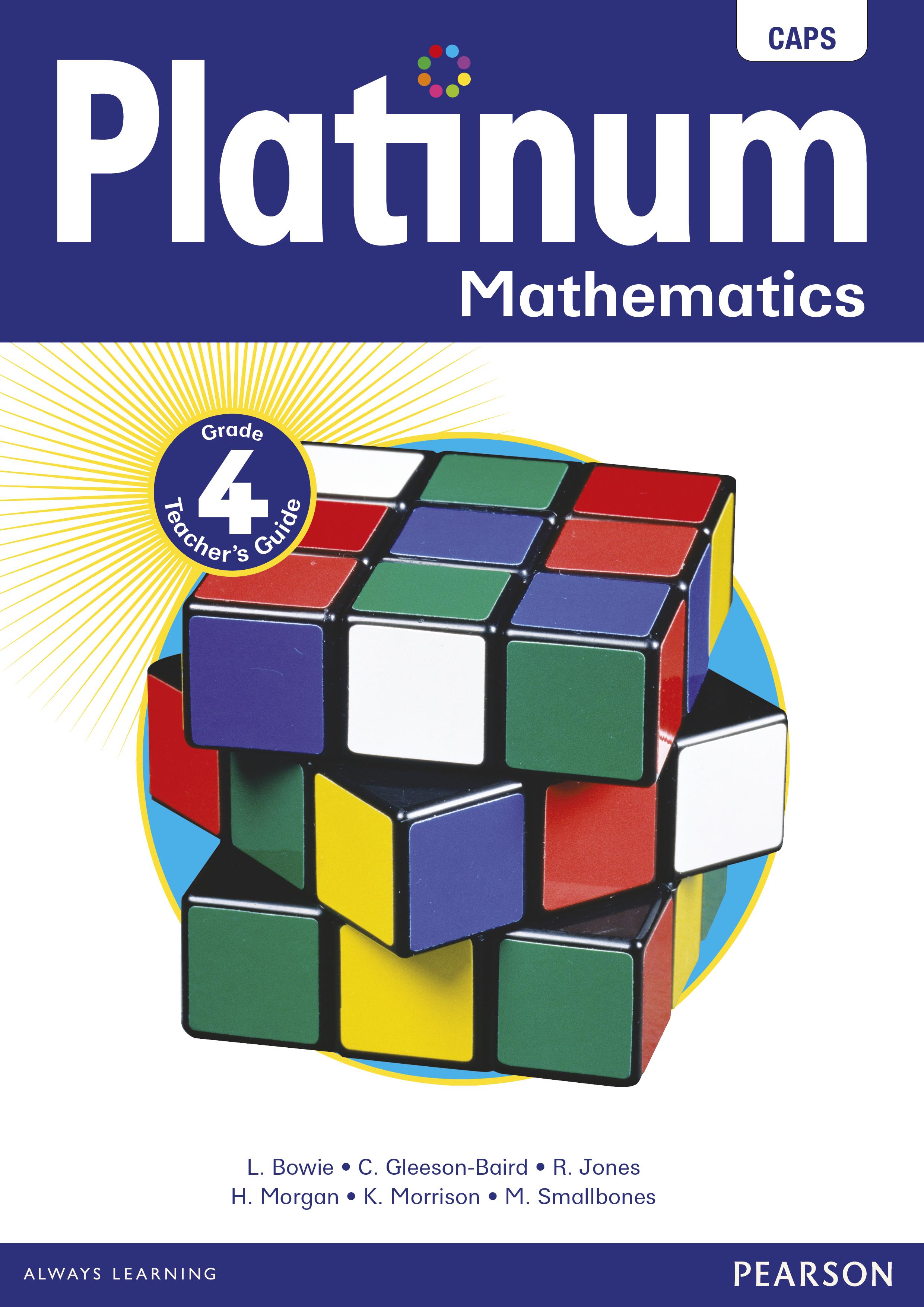 Platinum Mathematics Grade 4 Teacher S Guide E