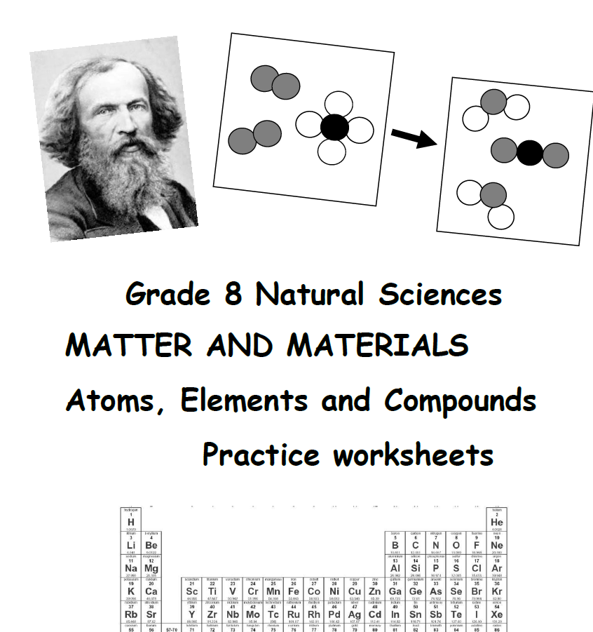 Grade 8 Natural Sciences MATTER AND MATERIALS Atoms