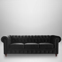 Black Velvet Chesterfield Sofa Bed Light Brown Decorating Ideas Sofas