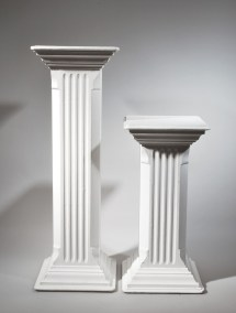 Square Fluted Wood Columns - West Coast Event Productions