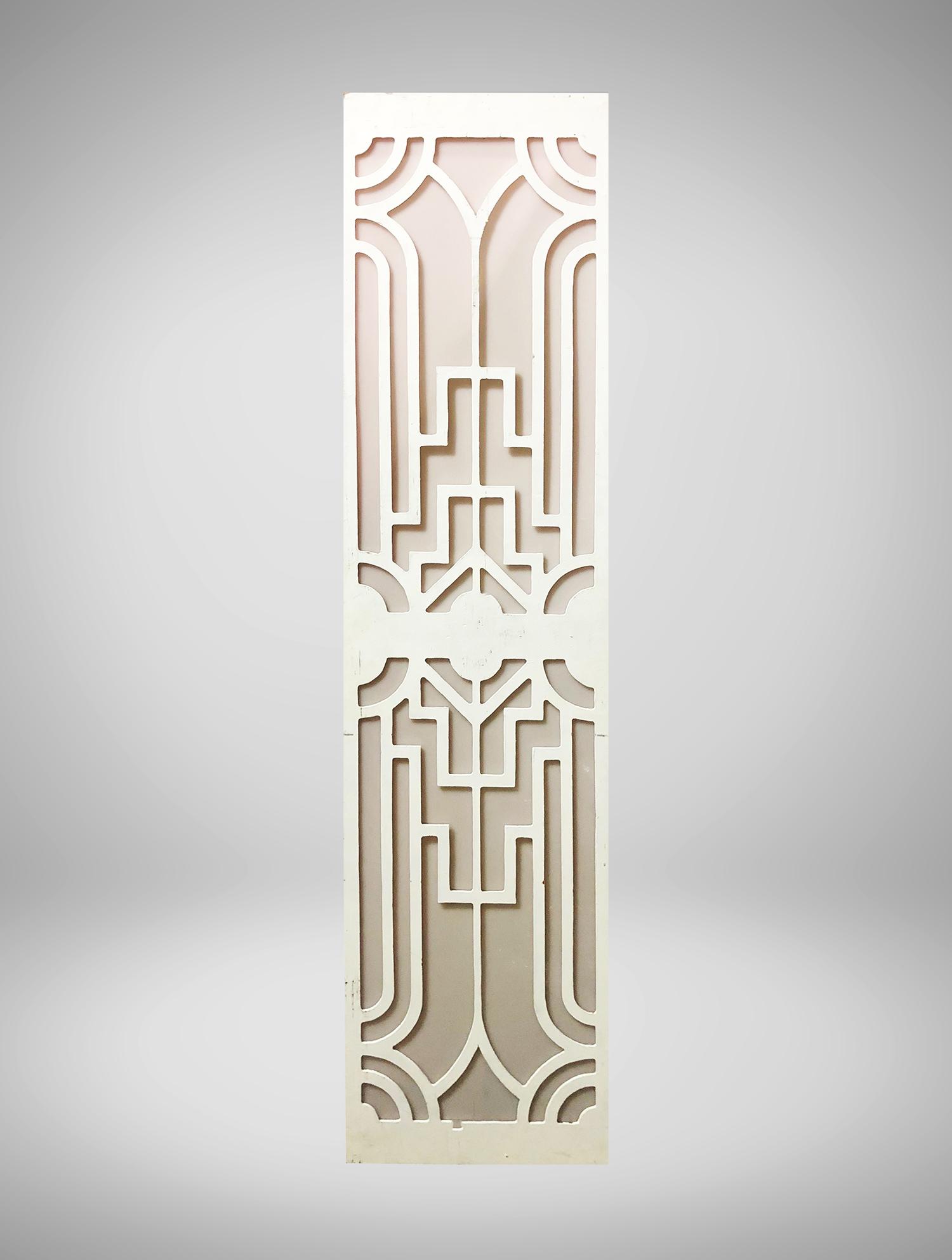 White Art Deco Column