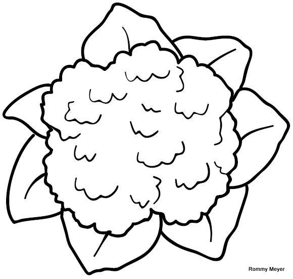 coliflor para colorear