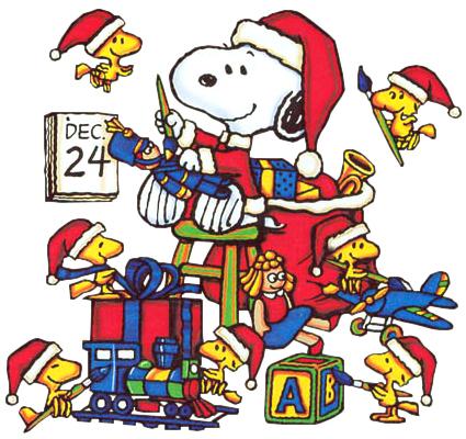 christmas-snoopy-woodstock wchaverri's