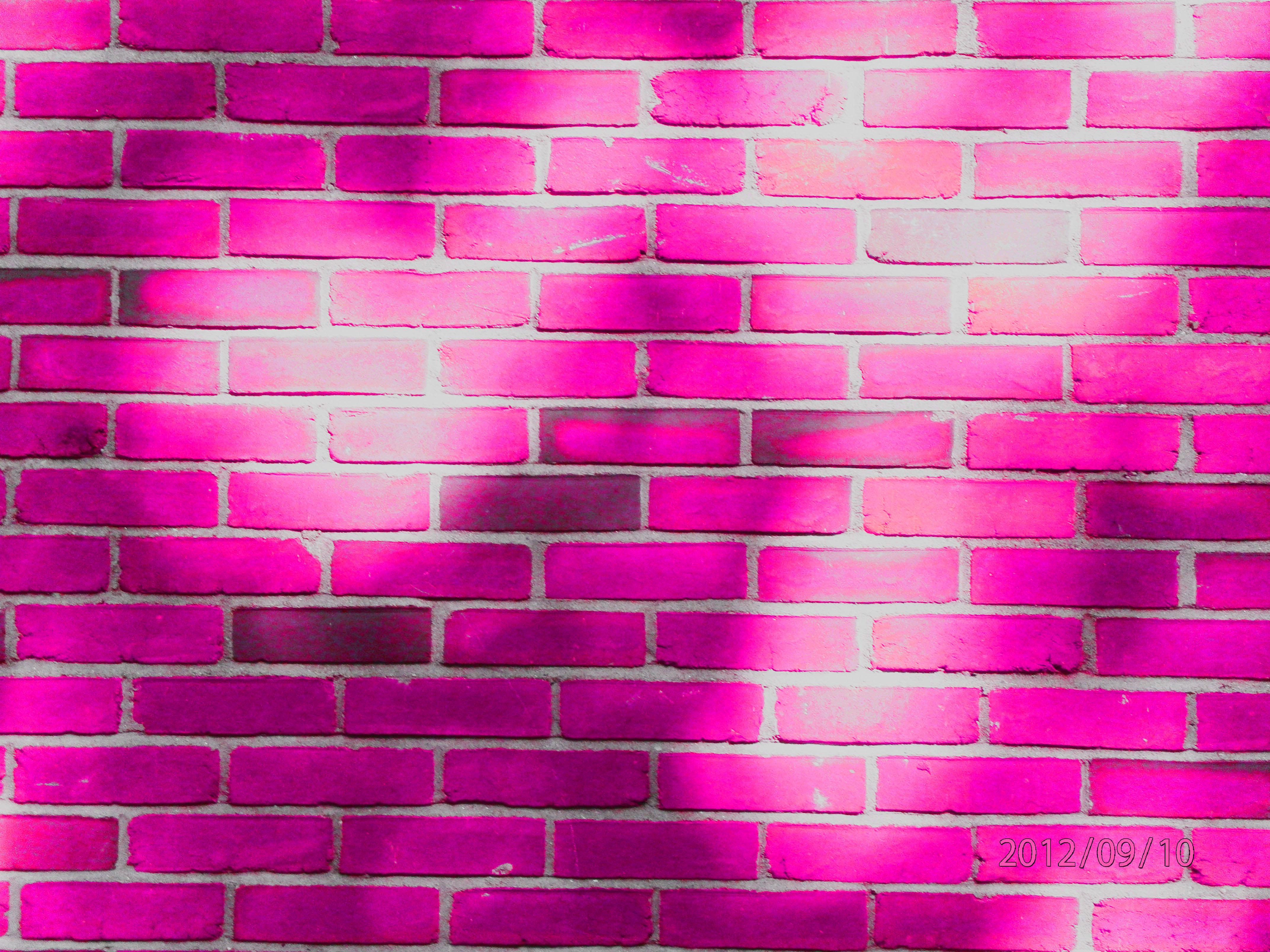 pink brick wall wchryslerphoto