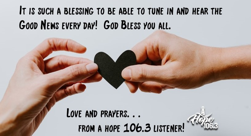 From a Hope 106.3 Listener!