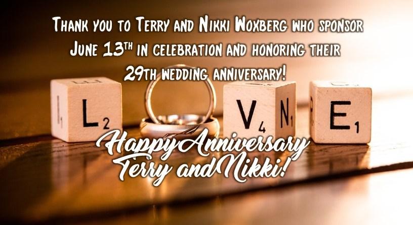 Happy Anniversary Terry and Nikki!