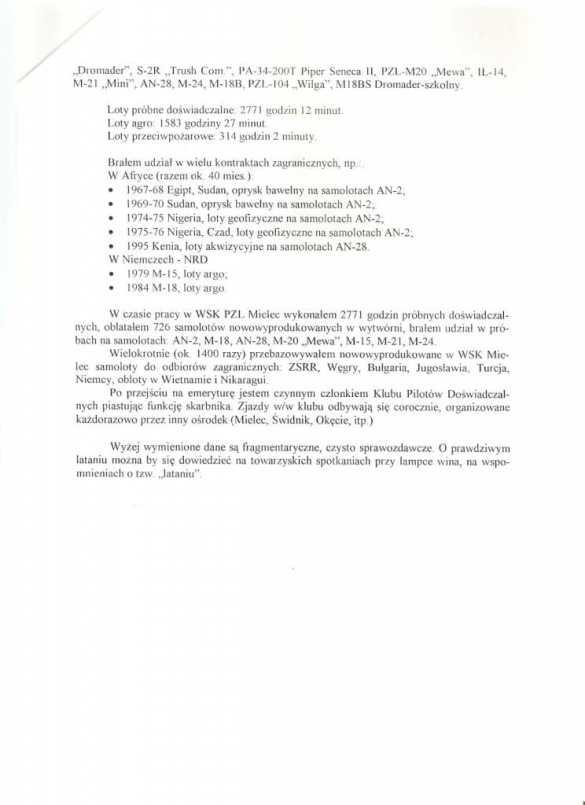 Wiadomość o odznaczaniu pilota Jerzego Pietrzaka Krzyżem Kawalerskim [FELIETON]