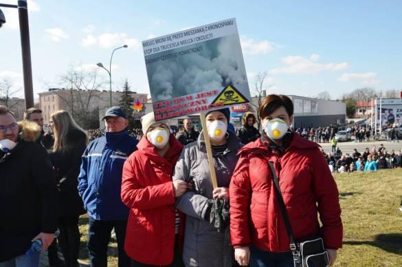Protest przeciwko firmie Kronospan [FOTO, VIDEO, DRON]