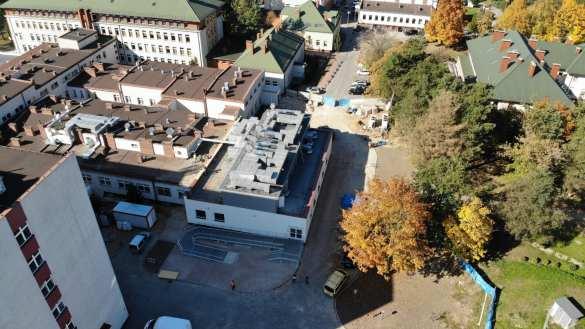 Pierwszy etap rozbudowy bloku operacyjnego [VIDEO, FOTO, DRON]
