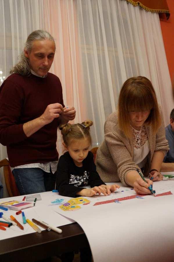 Listopadowe Rodzinne warsztaty artystyczne odbyły się w Pałacyku Oborskich!