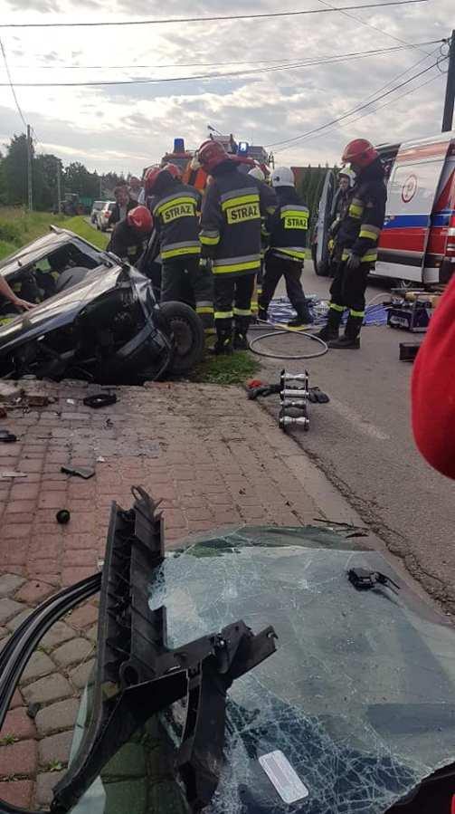 Wypadek w Kiełkowie [FOTO]