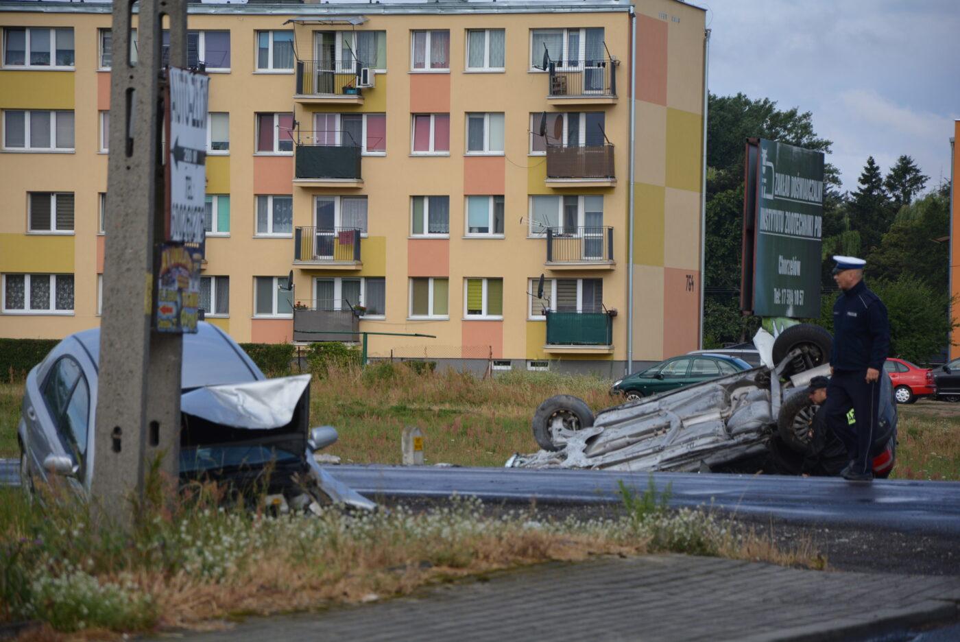 Wypadek w Chorzelowie [FOTO]