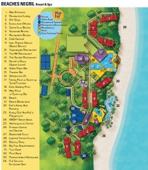 Beaches Resort Negril Jamaica Map