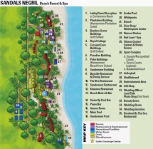 Sandals Resort Negril Jamaica Map