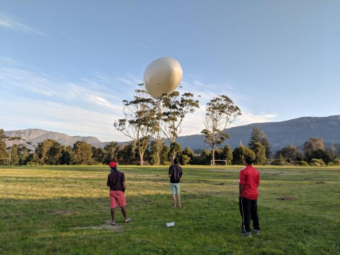 © Cloudline Africa The team at Cloudline Africa test their autonomous airship