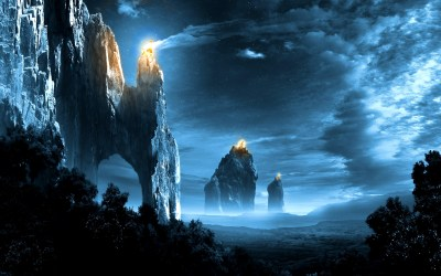 landscape fantasy hd landscapes amazing wallpapers epic mountain mountains ocean sky 1080p
